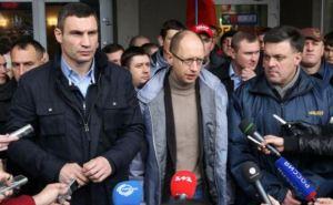 Лидеры оппозиции отправились на переговоры с Януковичем