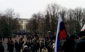 Драка в центре Луганска (видео)