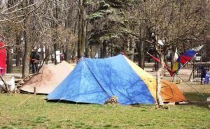 Палатки «Луганской гвардии» собираются снести? (фото)