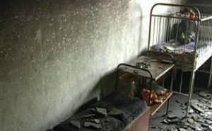 На Луганщине горела детская поликлиника (фото)