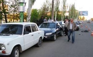В центре Луганска произошло ДТП с участием 4 машин (фото)