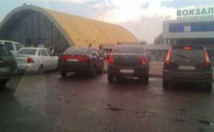 Ситуация на железнодорожном вокзале в Луганске (фото)