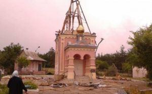 В Краснодоне от артобстрела пострадал храм (видео)