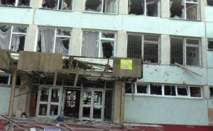 Последствия обстрела в Луганске. Здание школы №51 (фото)