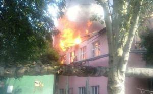 Луганская школа №7 после обстрела (фото)