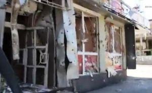 Луганск времен АТО: разрушенные магазины в центре (видео)