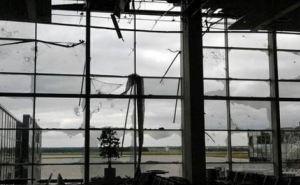 Как выглядит разрушенный аэропорт Донецка? (видео)
