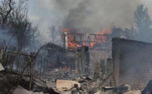 В Станице Луганской на выходных сгорели четыре дома