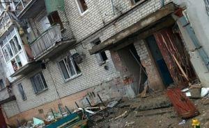 Последствия обстрела города Счастье в Луганской области (фото)