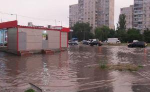 Ливень в Харькове. Часть города затопило