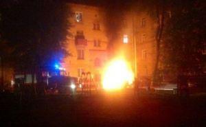 В Харькове ночью взорвалась машина и горел стадион