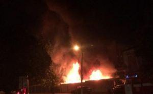 В Харькове новью горела СТО