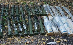 В Северодонецке обнаружили тайник с оружием и боеприпасами (фото, видео)