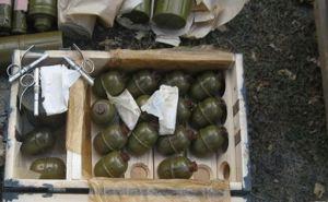 На одной из турбаз Северодонецка обнаружили крупный тайник с оружием (фото)