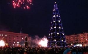 В Луганске зажгла огни главная городская елка (фото)