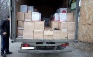 На блокпосту в Луганской области задержали автомобиль с 25 ящиками сигарет (фото)
