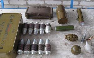 На территории садового общества в Счастье обнаружили схрон с боеприпасами (фото)