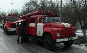 В центре Луганска горел жилой дом (видео)
