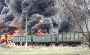 В Краснодоне произошло возгорание вагонов с дизельным топливом и углем (фото)