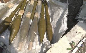 Под Луганском на территории заправки нашли склад боеприпасов