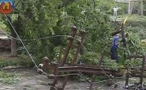 Последствия урагана в Луганске (видео)