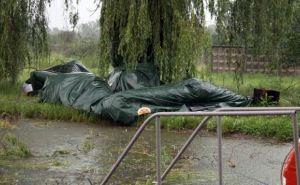 В Северодонецке снесло палаточный городок для переселенцев (фото)