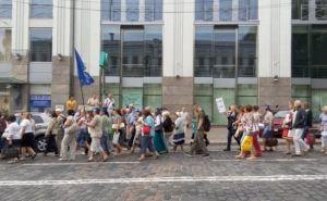В Киеве массовая акция протеста против повышения тарифов