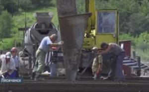 Началось бетонирование моста между Северодонецком и Лисичанском (видео)