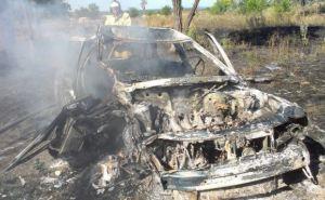 В Славяносербском районе в результате ДТП сгорел автомобиль (фото)