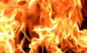 В Луганске произошел пожар в заброшенном доме