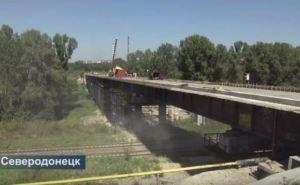 Мост между Лисичанском и Северодонецком готов на 75% (видео)