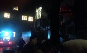 Пожар в центре Харькова. Из ресторана эвакуировали людей