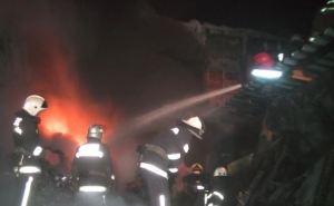 В Харькове горел склад с горючим
