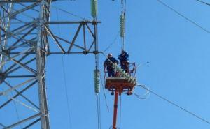 В Станице Луганской запустили новую линию электропередач