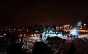 В Харькове построили елку из 60-ти автомобилей