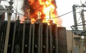 В Северодонецке загорелся трансформатор на подстанции (фото, видео)