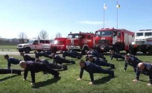 Спасатели Луганской области приняли эстафету В«22 Pushup ChallengeВ» (видео)