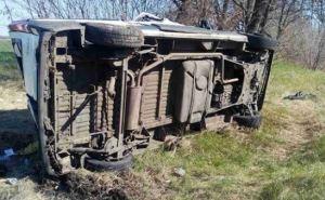 В Луганской области перевернулся микроавтобус. Есть пострадавшие