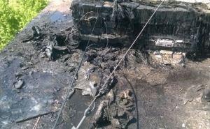 В Северодонецке произошел пожар на крыше многоэтажки (видео)