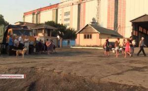 В Белокуракино местные жители перекрыли дорогу к элеватору (видео)