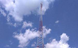 В Луганской области закончили установку телевышки высотой 134 метра (фото)
