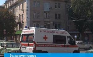 ДТП в центре Луганска (видео)