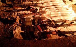Вблизи Сватово обнаружен крупный схрон боеприпасов и оружия (фото)