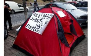 Переселенцы устроили голодовку под Кабмином