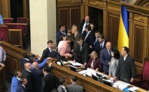 Депутаты Верховной Рады в очередной раз устроили потасовку и сорвали заседание по Донбассу