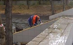 Появилось новое видео реконструкции парка имени Горького в Луганске