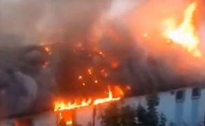 В Луганске  произошел пожар в доме свидетелей Иеговы (видео)