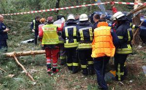 В центре Киева упал вертолет