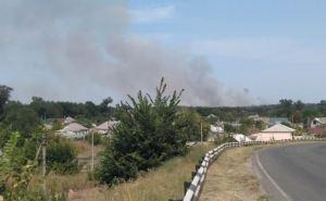 Крупный пожар в Станично-Луганском районе не удается потушить уже третьи сутки. Горит уже с.Болотенное