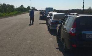 Очереди на пунктах пропуска через границу сРФ